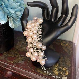 Light Pink Pearl and Gem Bracelet